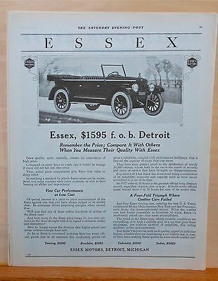 1921 magazine ad for Essex - Touring Car, Remember Price, Compare it with Others