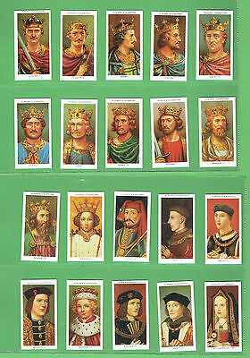 #t12. 1990 Authorised Reproduction Of Kings & Queens Of England Cigarette  Cards
