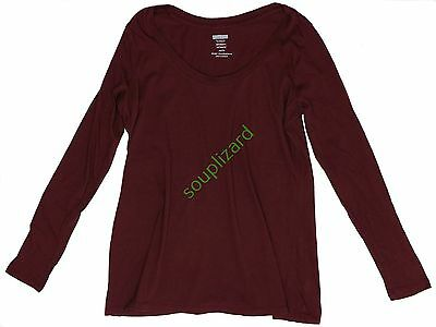 New OLD NAVY Maternity Solid Long Sleeve Top Women's NWOT Size XS S M L XL XXL