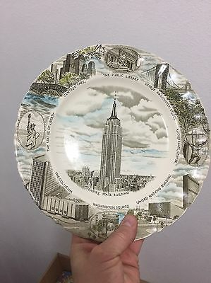 Empire State Building Collectors Plate Johnson Bros Brothers England