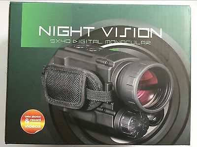 Night Vision Infrared Digital Monocular Telescopes 4.5X Mag Hunting 200M Record