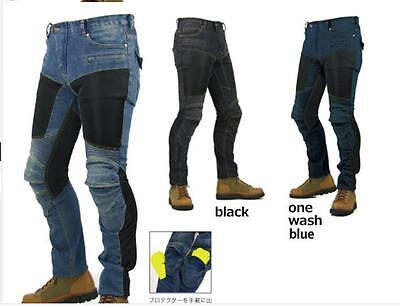 Mens motorbike motorcycle skinny slim fit Denim jeans