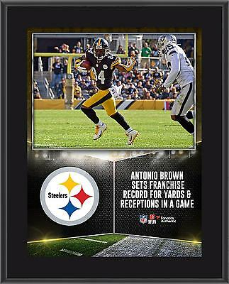 "Antonio Brown Pittsburgh Steelers 10.5"" x 13"" Sublimated Franchise Record Plaque"