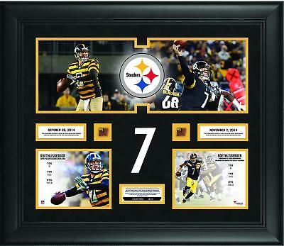 Ben Roethlisberger Pittsburgh Steelers 20x24 Collage with Game-Used Ball LE