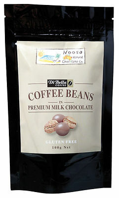 2 x Milk Chocolate Coated Coffee Beans 100g - Noosa Natural Chocolate Co