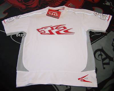 Holden Racing Team HRT Logo Boys White Embroidered T Shirt Size 10 New