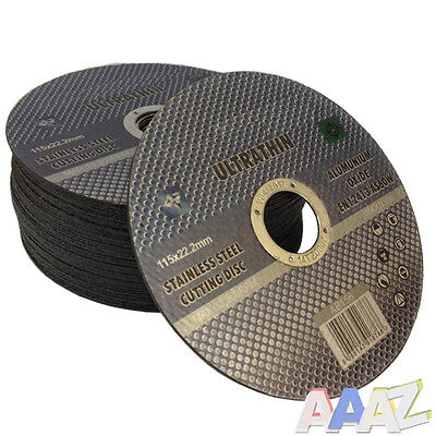 "Metal Cutting Discs 1mm Ultra Thin 4 1/2"" 115mm Angle Grinder Disc Steel"
