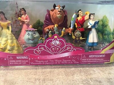 Disney Princess BELLE Beauy & The Beast Figurine Set - 8 PIECES