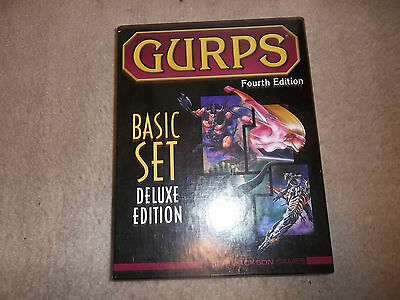 Gurps 4th Edition Basic Set Deluxe Edition with Characters & Campaigns Slipcase
