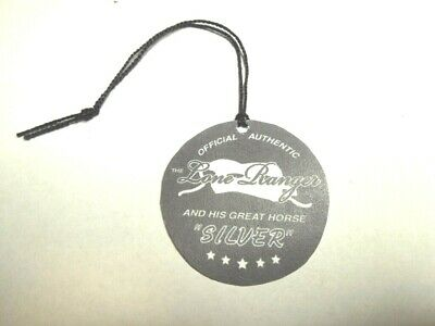 1950's The Lone Ranger and Silver  for Western Rider Hang Tag # 2 type