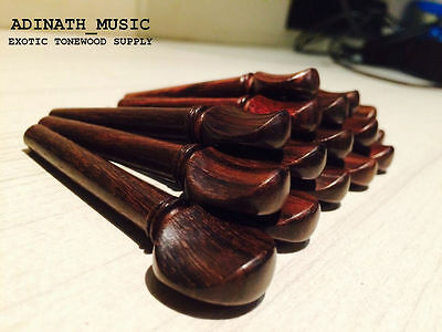 Rosewood Tuning Pegs Set Of 4 Pieces : Master Grade For Oud , Violin , Viola