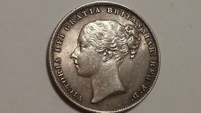 1860 Shilling.Victoria YH.1838-1887.nUNC.Lustrous and Toned.Rare.British Milled.