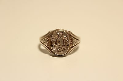 Antique Rare Nice Hand Made And Hand Carved Solid Silver Men's Ring