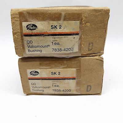 Lot Of 2 Gates Sk2 7838-4200 Qd Vulcomount Bushing