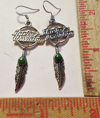 Vintage Harley earrings collectible old Hd motorcycle biker chick jewelry