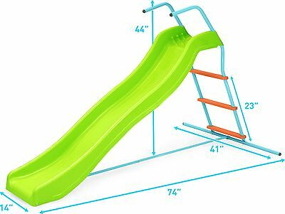 Pure Fun Home Playground Equipment: 6' Indoor/Outdoor Wavy Slide Youth Ages 4...