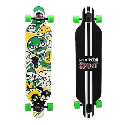 Puente Cute Colorful Professional Complete Drop-Through Longboard (41-Inch) #1