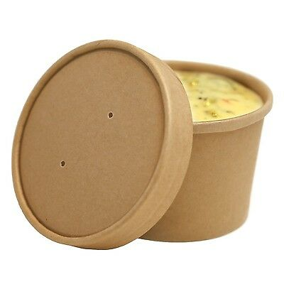 Restaurantware 200-Count 8-Ounce Eco Friendly Bio Soup Container Box with Lid...