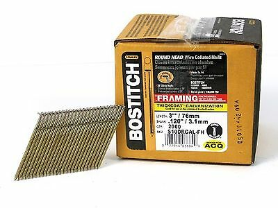 BOSTITCH S10DRGAL-FH 28 Degree 3-Inch by .120-Inch Wire Weld Galvanized Rings...