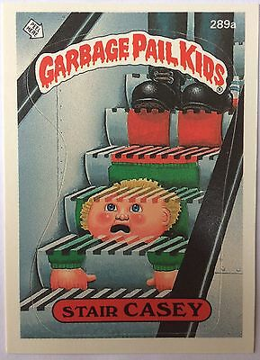 Stair Casey 289a Garbage Pail Kids US 7th Series (1987) Sticker/Vintage/Mint