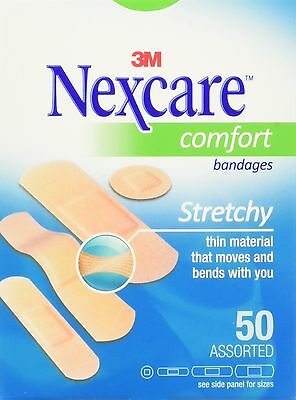 Nexcare Comfort Bandages Assorted Sizes 50 Per Pack