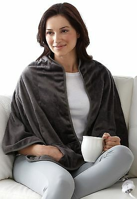 Sunbeam Heated Shawl Gray