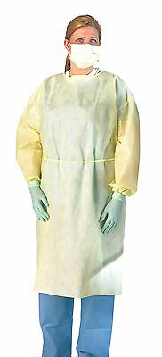 Medline NON27SMS2XXXL Multi-Ply Fluid Resistant Isolation Gown with Neck and ...