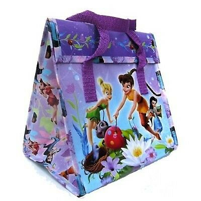 Disney Tinkerbell Fairies Insulated Velcro Lunchbox Lunch Box Bag Tote