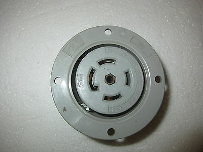 P&S Pass & Seymour 30A 120/208V 3ØY HBL 2816 Style Locking Flanged Receptacle