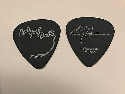 New York Dolls - Kenny Aaronson Signature 2011 Tour Guitar Pick Black & White