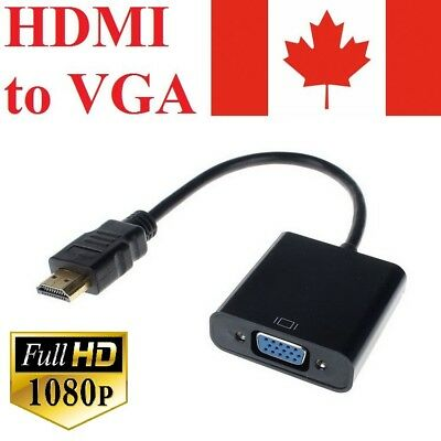 HDMI Male to VGA Female Video Cable Cord Converter Adapter 1080P For TV Monitor