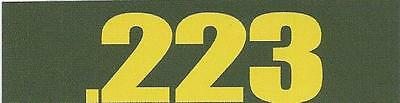 "Vinyl 1/2 Height Ammo Can Magnet label "".223"""