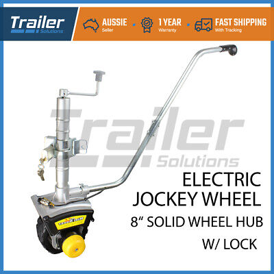 Motorised Jockey Wheel GEN2 Electric Mini Mover 12v 550W Caravan Trailer Boat 8""