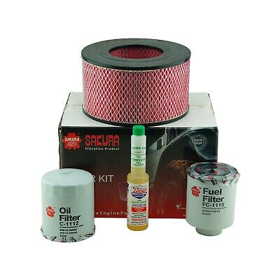 Toyota Hilux KZN165 3.0Ltr 1KZTE 12/99-10/05 Air, Fuel, Oil Filter Service Kit
