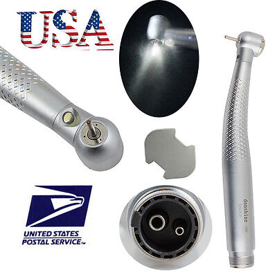 【fit NSK】 Dental optic LED Handpiece High Speed Standard Push Button 2 Hole -USA