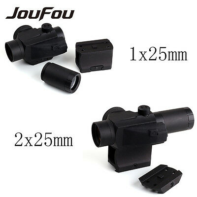 Tactical Reflex 1x25mm Red Dot Sight Scope 2 MOA Double Lens For Hunting