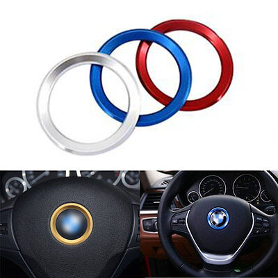 Car Steering Wheel Center Decoration Ring Cover For BMW 1 3 4 5 7 Accessories