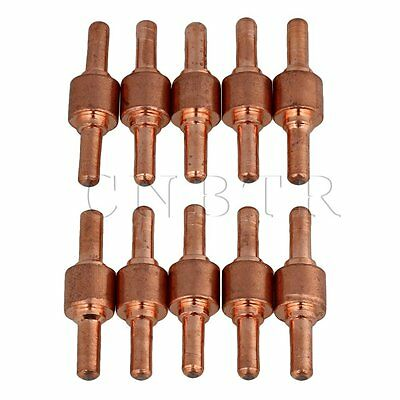 CNBTR PT-31 Plasma Cutting Electrode Tips Set of 10 Coppery