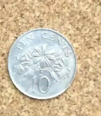 1986 Singapore 10 Cent Coin