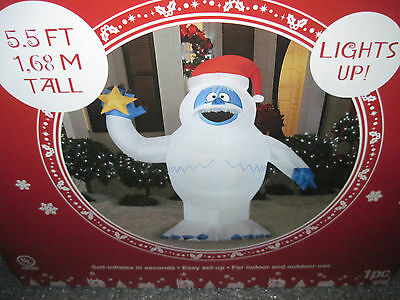 New Gemmy Santa Bumble Snowman Rudolph Reindeer Christmas Airblown Inflatable