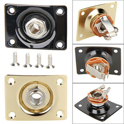 Metal Jack Output Plate Electric Jackplate w/ Screw for Gibson Epiphone Guitar