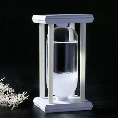 Weather Forecast Crystal Water Storm Glass Bottle  Home Decor Christmas Gift New