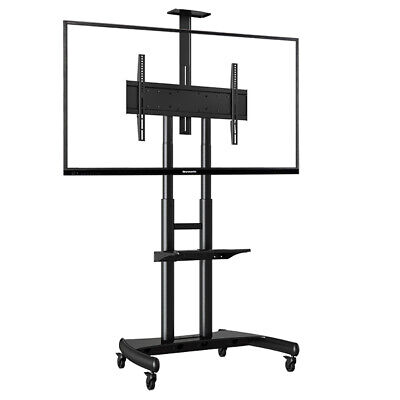 """Heavy-Duty Mobile Cart TV Stand AVA1800-70-1P VESA (55""""-70"""" screens up to 90kg)"""