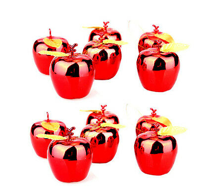4 Pcs Artificial Apple Large Plastic Fruit Fake Christmas Tree Decorated red