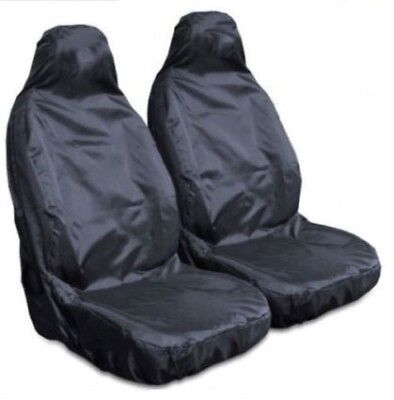 Car / Van / MPV /4X4 Pair of Black Single Rubber lined Heavy Duty Seat Covers
