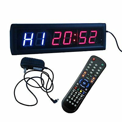 "Crossfit Interval Timer Stop Watch Wall Clock Remote Control 14""x4""x1.5"" Manage"