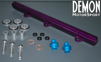 Mitsubishi Lancer EVO 1 2 3 Fuel Rail 4G63 92-96 (Purple) AN6 -6 6AN Connections