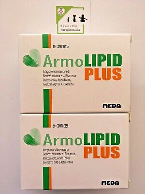 2 x ArmoLIPID PLUS tot. 120 compresse- Integratore CONTROLLO COLESTEROLO - MEDA