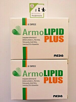 2 x ArmoLIPID PLUS tot. 120 compresse - Integratore CONTROLLO COLESTEROLO - MEDA
