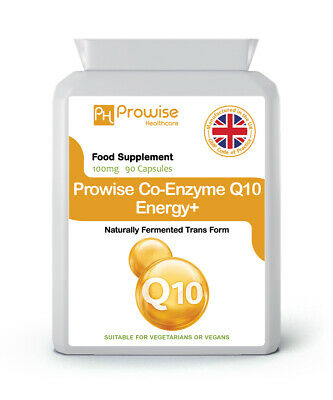Co-Enzyme Q10 100mg 90 Capsules - Healthy Cardiovascular, Gums (GMP) UK Made